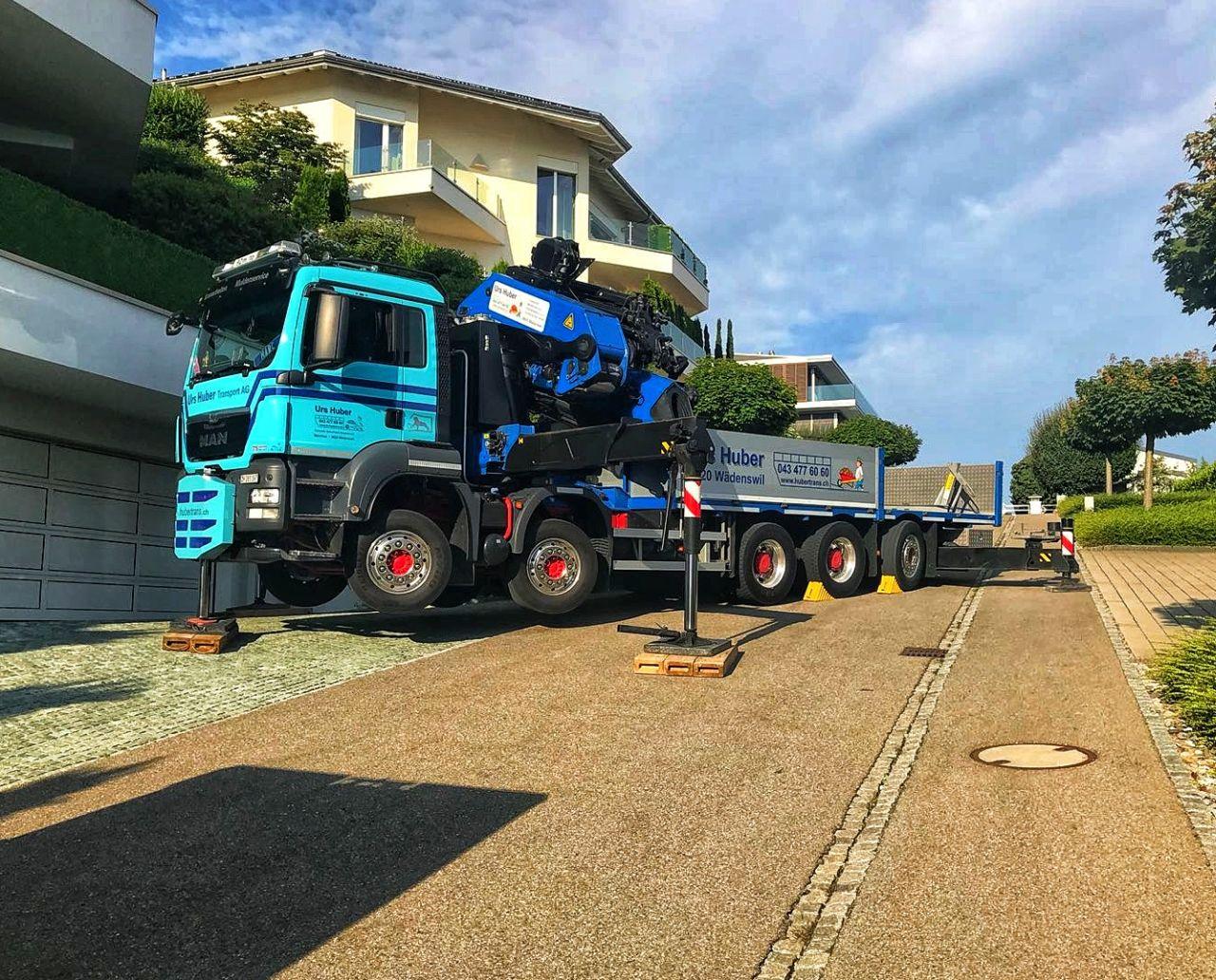 5-Achs-Kranwagen 35m Urs Huber Transport AG